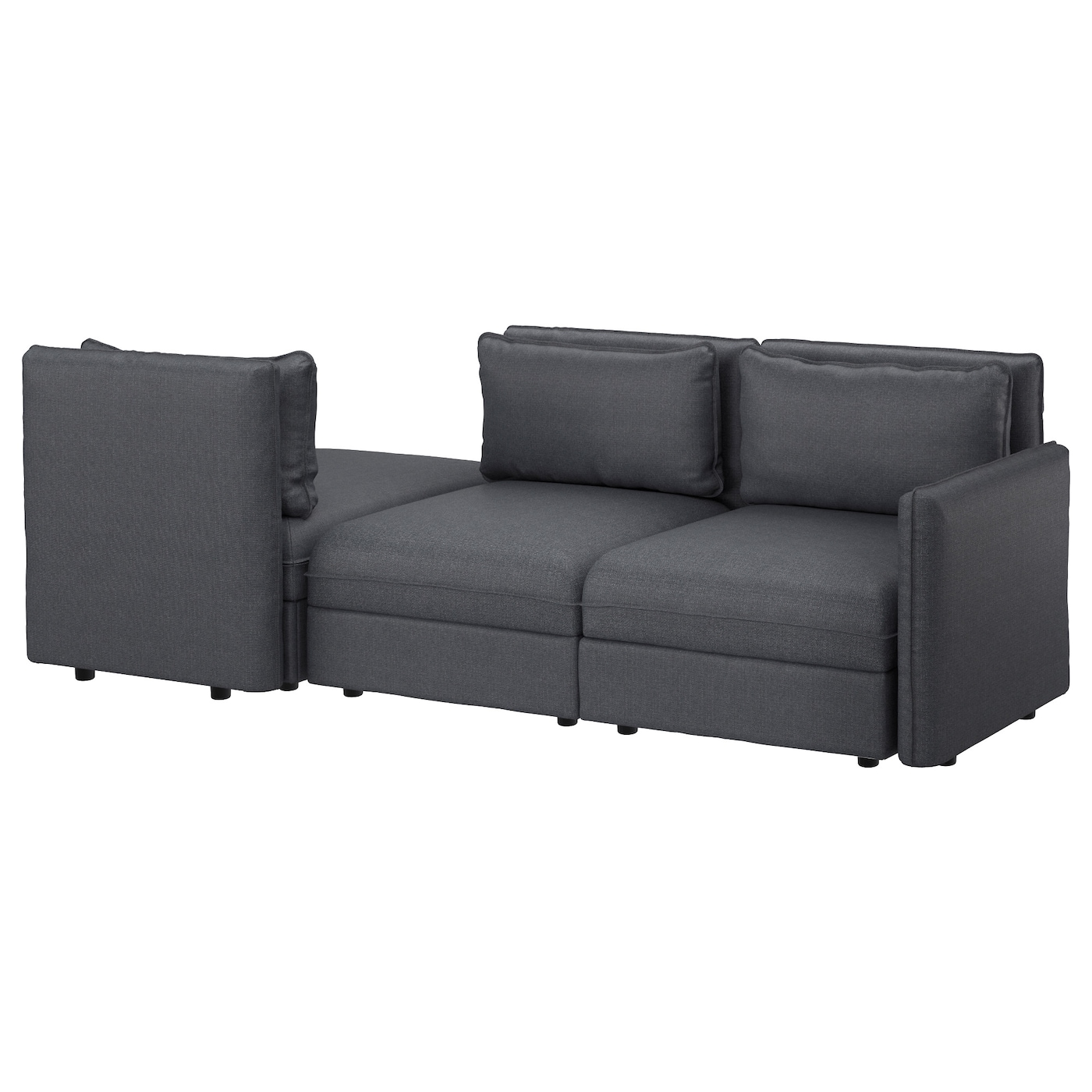 vallentuna 3 seat sofa with bed hillared dark grey ikea. Black Bedroom Furniture Sets. Home Design Ideas