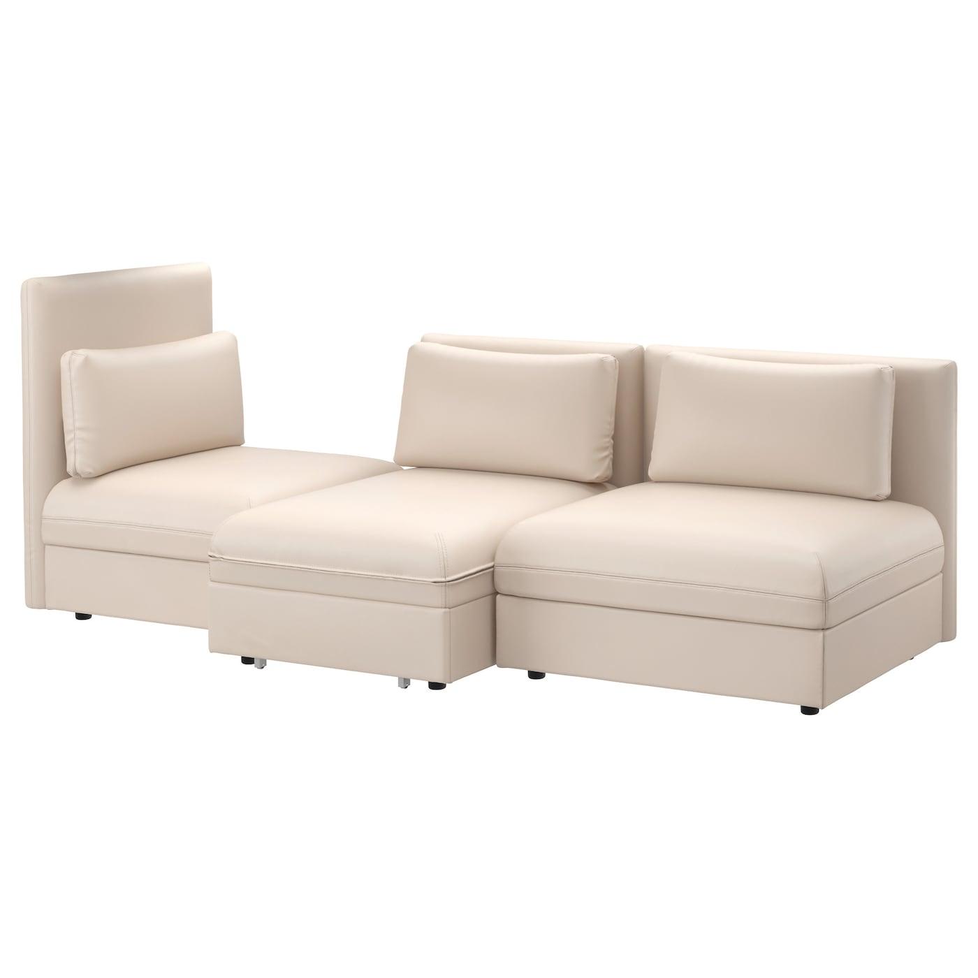 vallentuna 3 seat sofa with bed murum beige ikea. Black Bedroom Furniture Sets. Home Design Ideas
