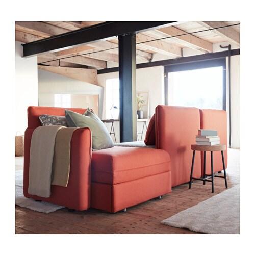 vallentuna 3 seat sofa with bed ramna orange funnarp black beige ikea. Black Bedroom Furniture Sets. Home Design Ideas