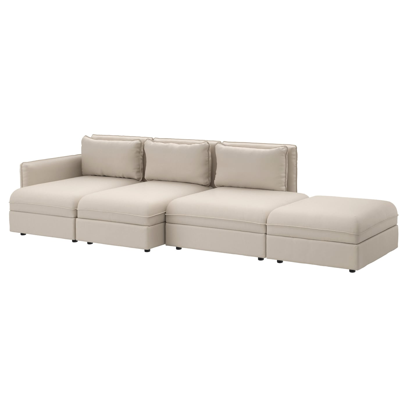 vallentuna 4 seat sofa ramna dark beige ikea. Black Bedroom Furniture Sets. Home Design Ideas