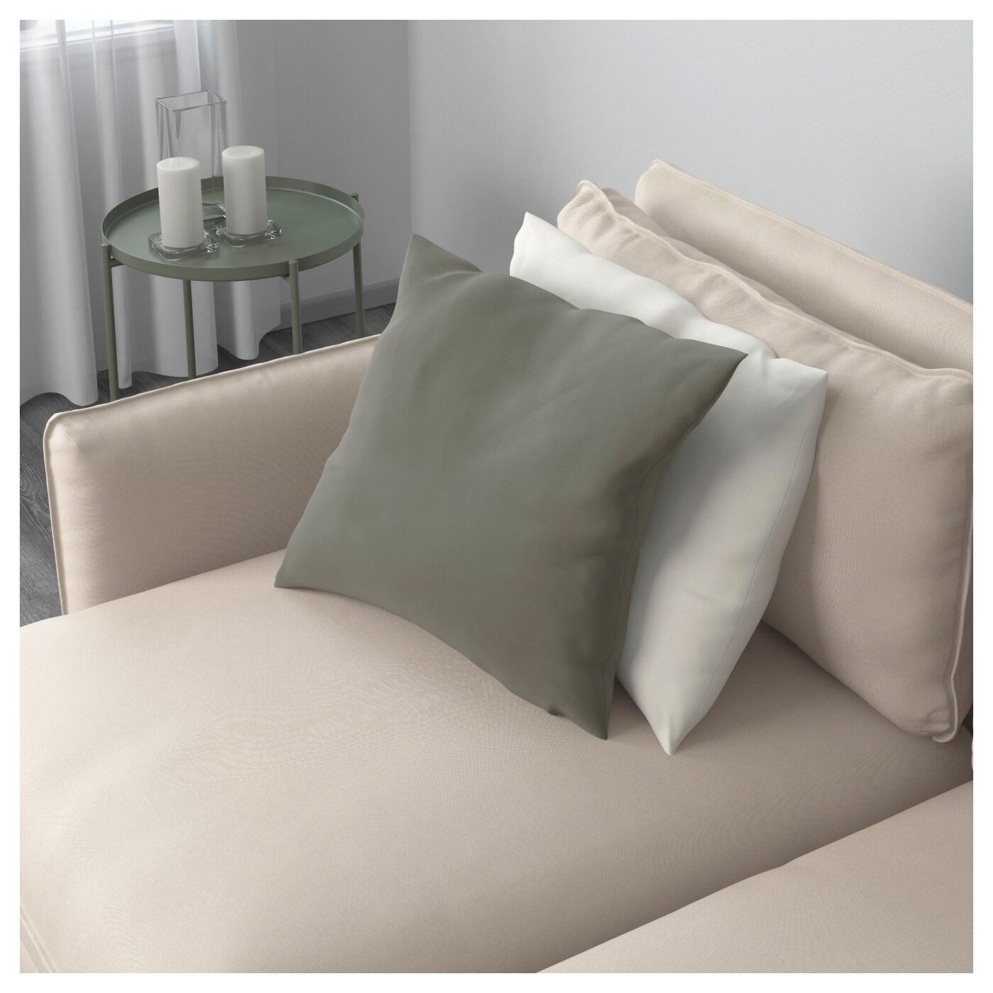 VALLENTUNA 4 seat sofa with bed Ramna dark beige IKEA