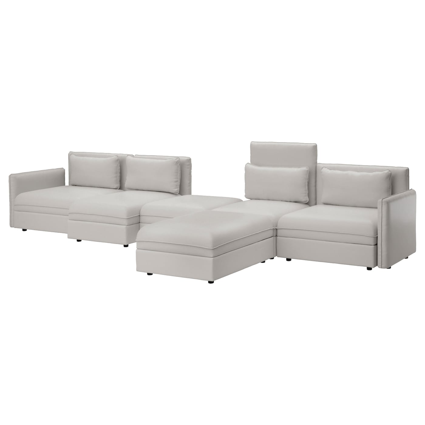 Vallentuna 5 Seat Sofa Ramna Light Grey Ikea
