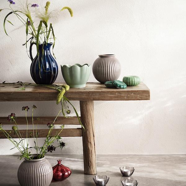 VANLIGEN Vase, dark red, 11 cm