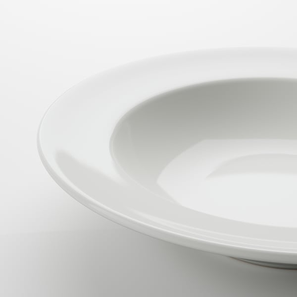 VARDAGEN Deep plate, off-white, 23 cm