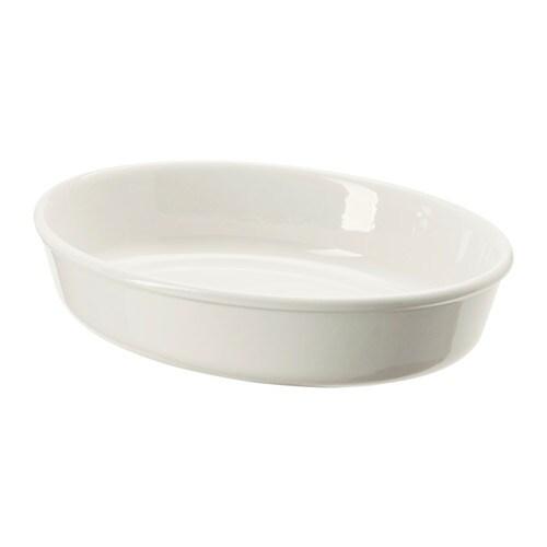 VARDAGEN Oven dish Ovaloffwhite 26×21 cm  IKEA