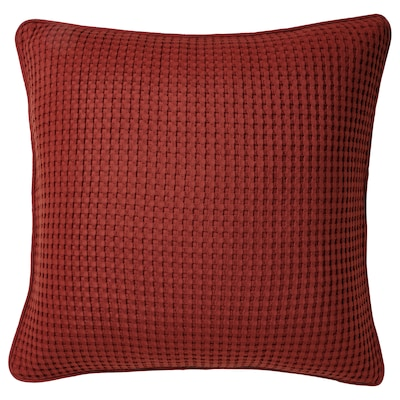 VÅRELD Cushion cover, brown-red, 50x50 cm