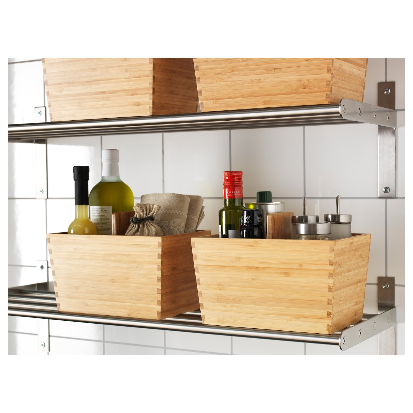 ikea kitchen storage boxes variera box with handle bamboo 24 x 17 cm ikea 4564