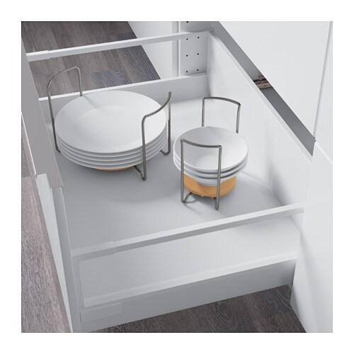 Variera plate holder light beech stainless steel 19 32 cm for Ikea plate storage