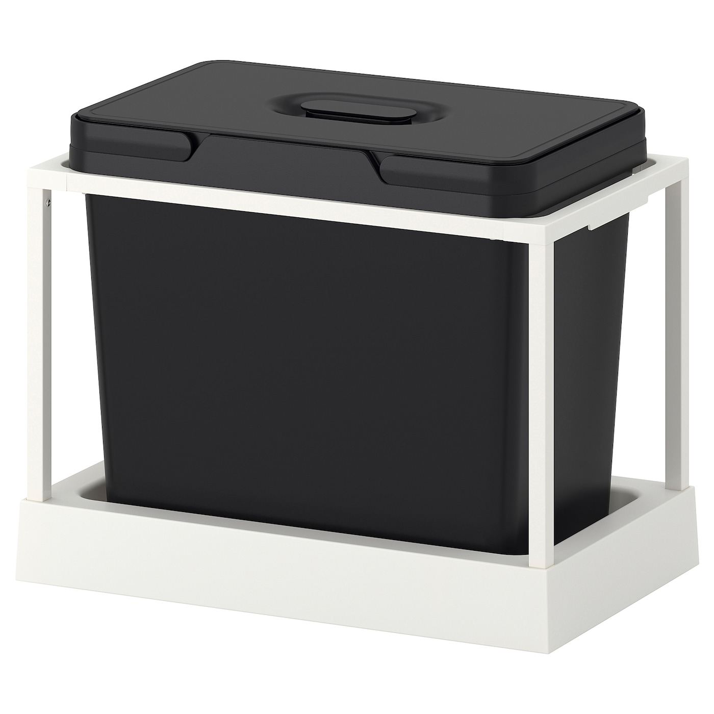 IKEA VARIERA/UTRUSTA waste sorting for cabinet Rounded corners for easy cleaning.
