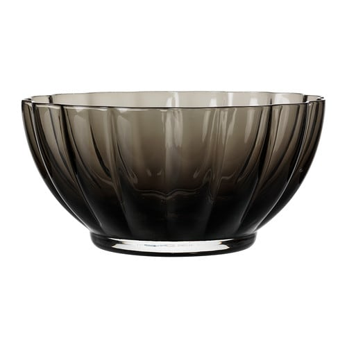 VÅRLIKT Bowl IKEA The glass bowl is mouth blown by a skilled craftsperson.