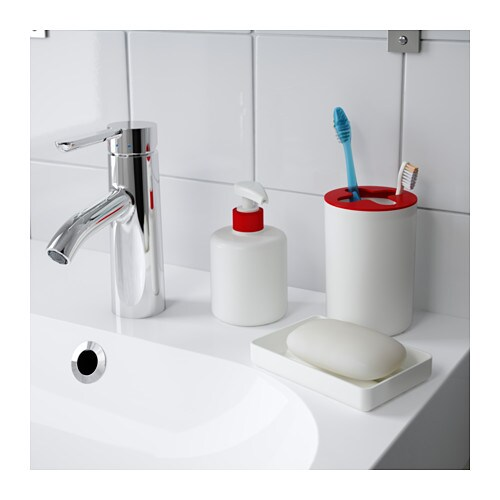 Varpan 3 piece bathroom set white ikea - Bathroom accessories sets ikea ...