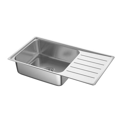Ordinaire IKEA VATTUDALEN Inset Sink, 1 Bowl With Drainboard