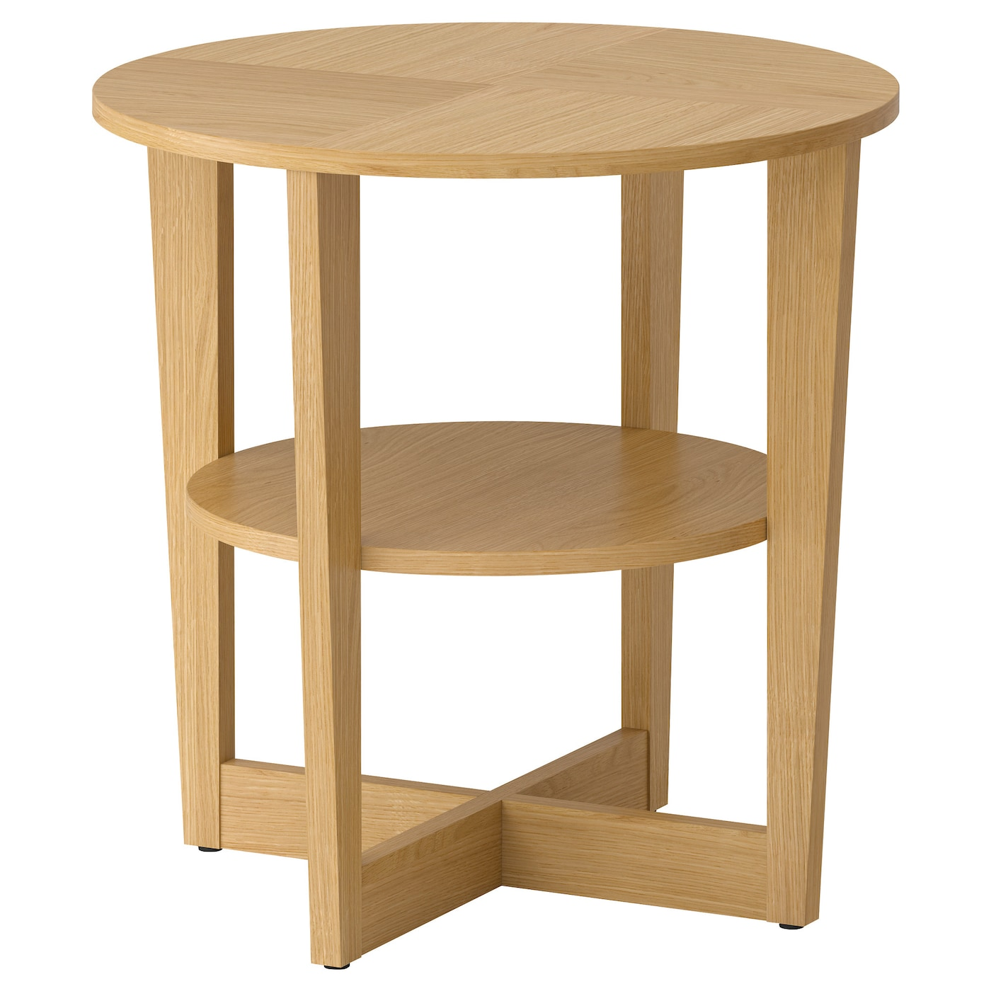 Vejmon side table oak veneer 60 cm ikea for Oak lamp table 60cm high