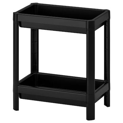 VESKEN Shelf unit, black, 36x23x40 cm