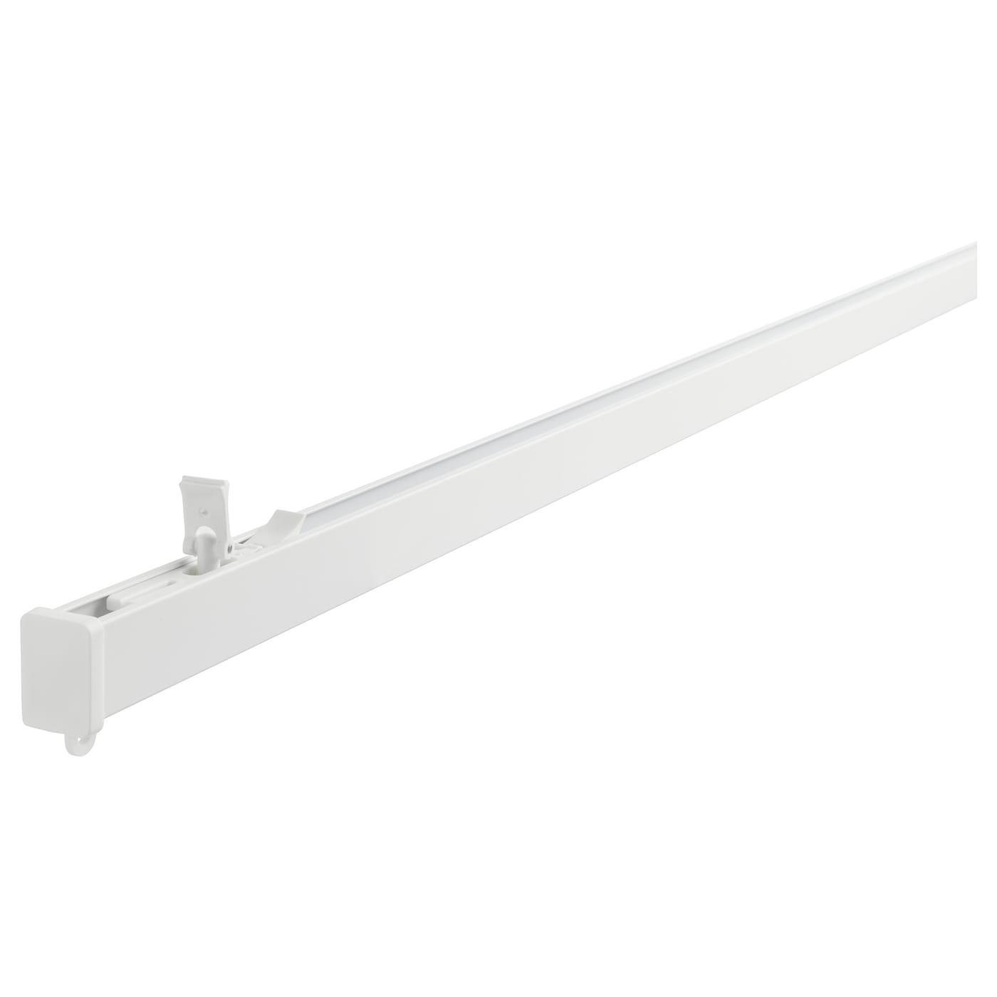 IKEA VIDGA single track rail The rail can be cut to the desired length with a hacksaw.