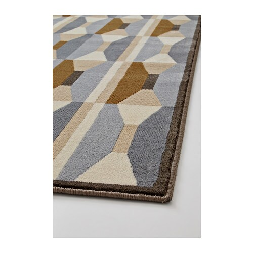 ikea vidstrup rug low pile the thick pile dampens sound and provides a soft surface to walk on. Black Bedroom Furniture Sets. Home Design Ideas
