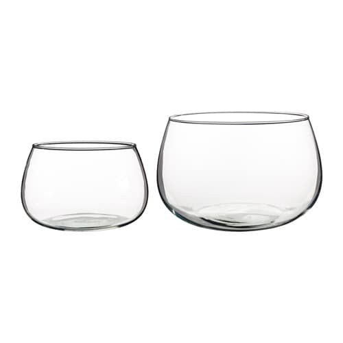 IKEA VIKTIGT bowl, set of 2 Each bowl has been mouthblown by a skilled craftsman.