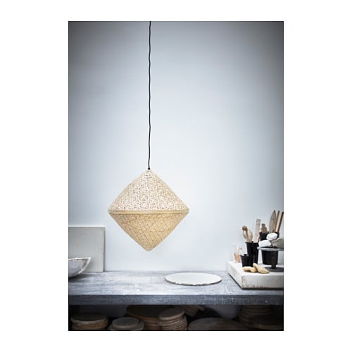 ikea viktigt pendant lamp shade each handmade natural fibre shade is