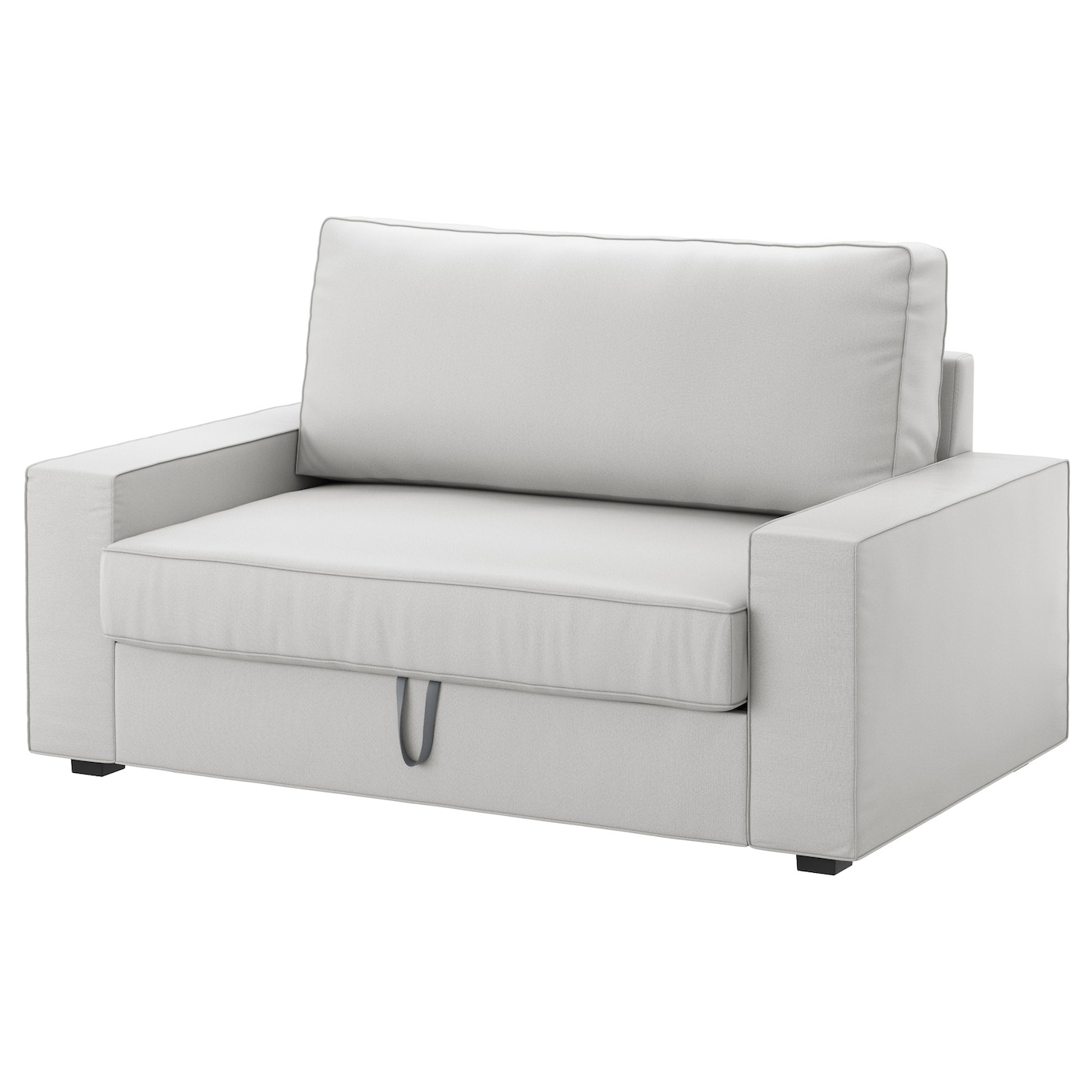 Vilasund two seat sofa bed ramna light grey ikea for Roche bobois canape lit