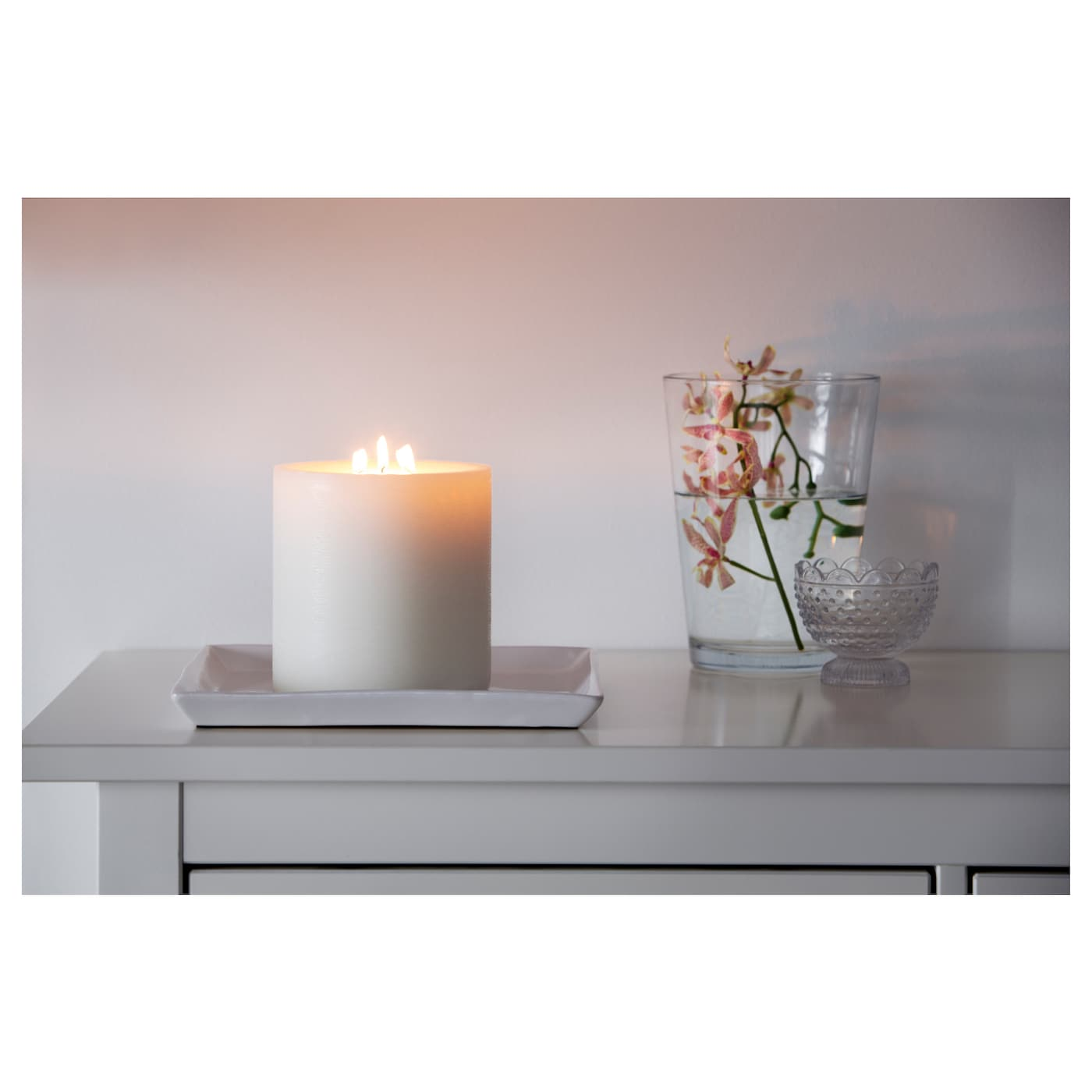 IKEA VILLIG scented candle with 3 wicks