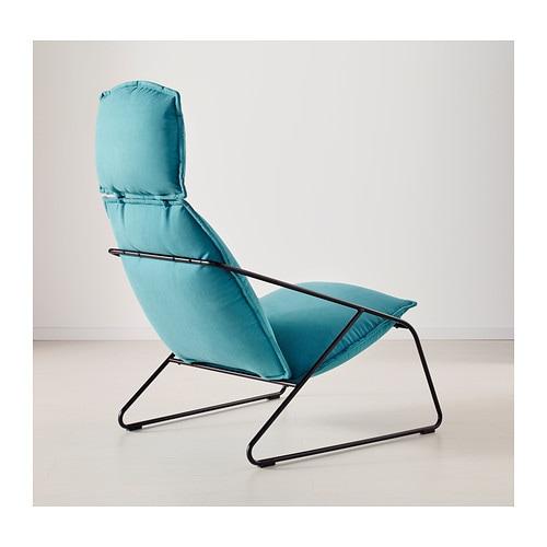Villstad high back armchair samsta turquoise ikea - Fauteuil turquoise contemporain ...