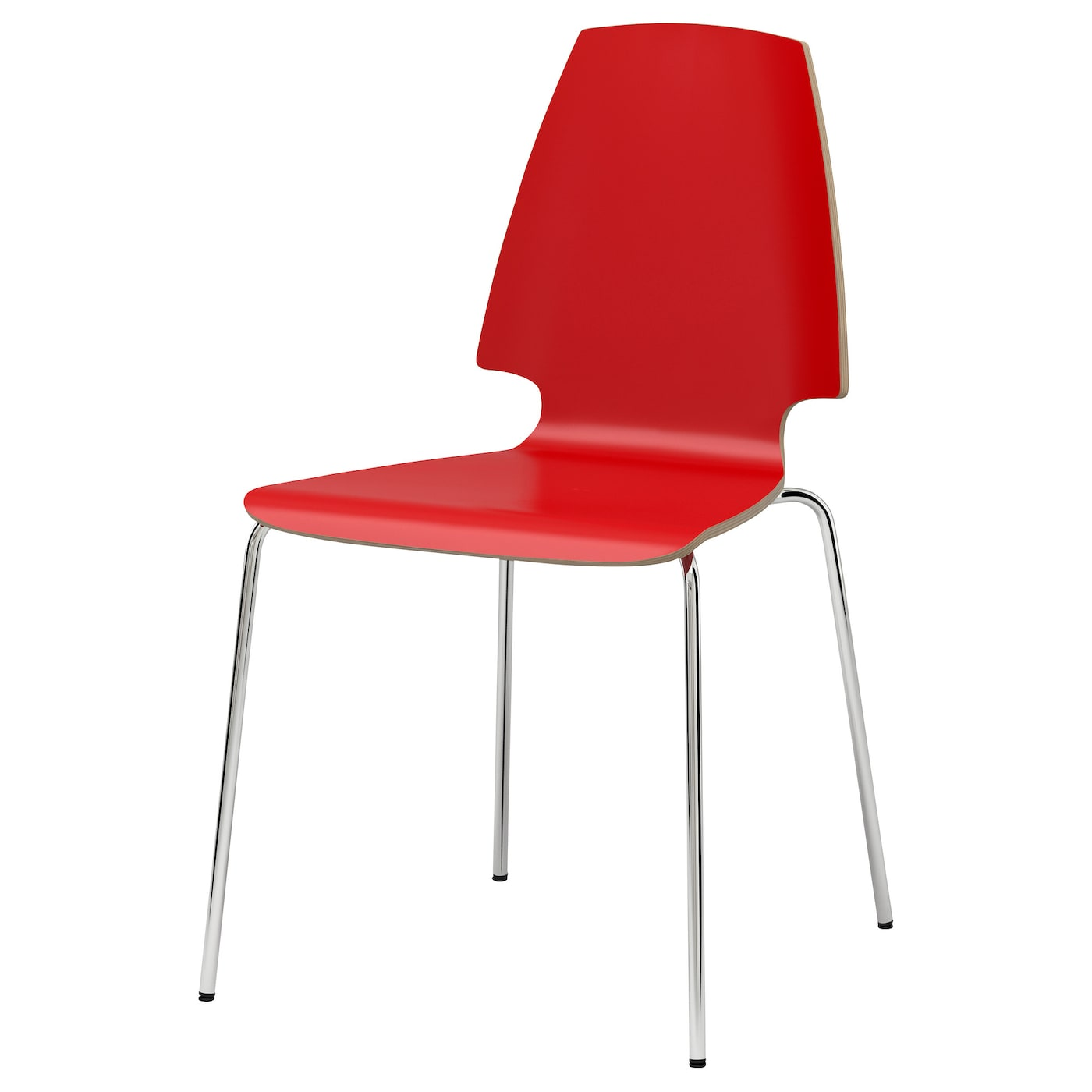 VILMAR Chair Red chrome plated IKEA