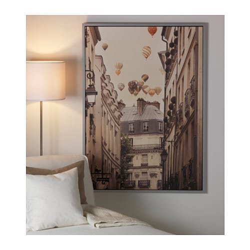 vilshult picture flying over paris 100x140 cm ikea. Black Bedroom Furniture Sets. Home Design Ideas