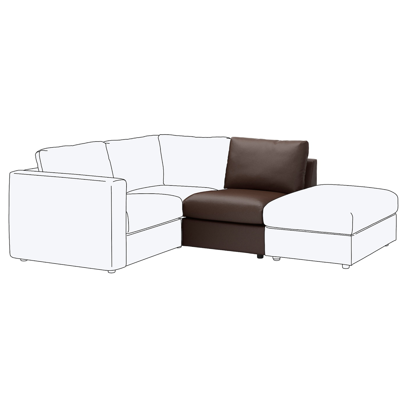 IKEA VIMLE 1-seat section