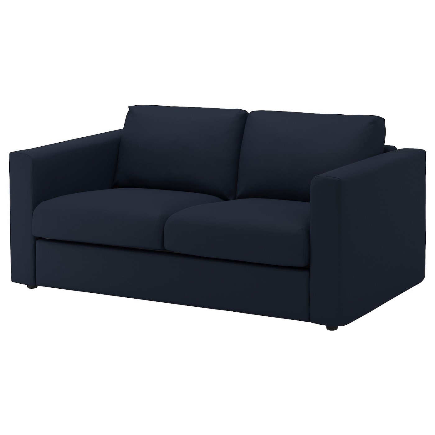 vimle 2 seat sofa gr sbo black blue ikea. Black Bedroom Furniture Sets. Home Design Ideas