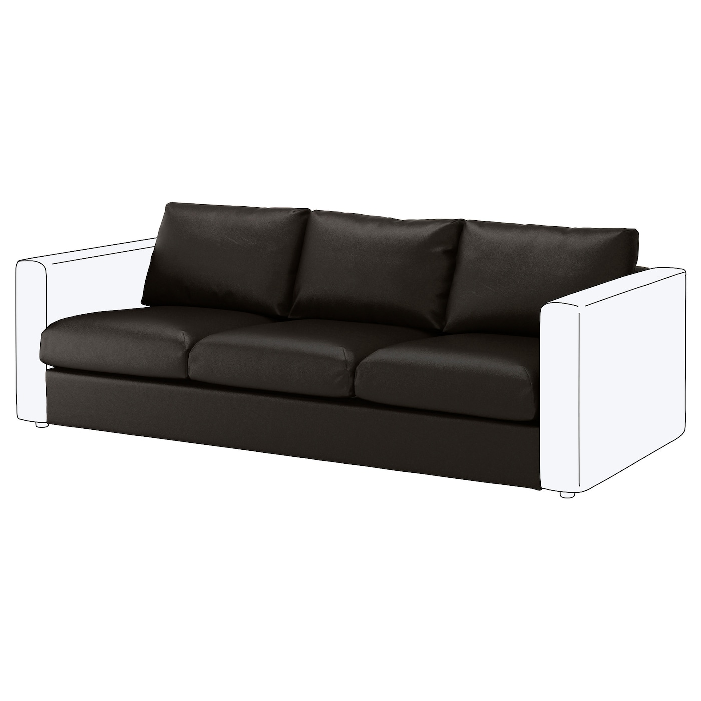 IKEA VIMLE 3-seat section 10 year guarantee. Read about the terms in the guarantee brochure.