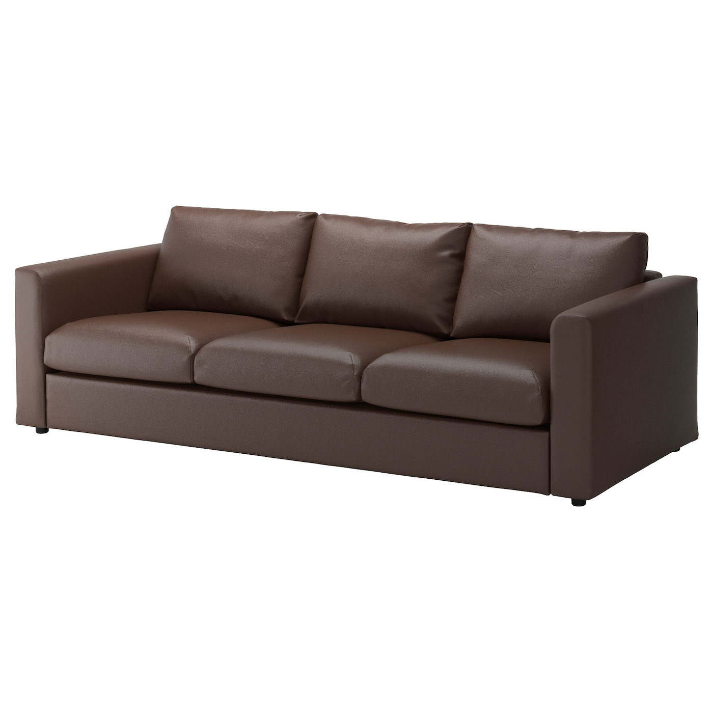 vimle 3 seat sofa farsta dark brown ikea. Black Bedroom Furniture Sets. Home Design Ideas