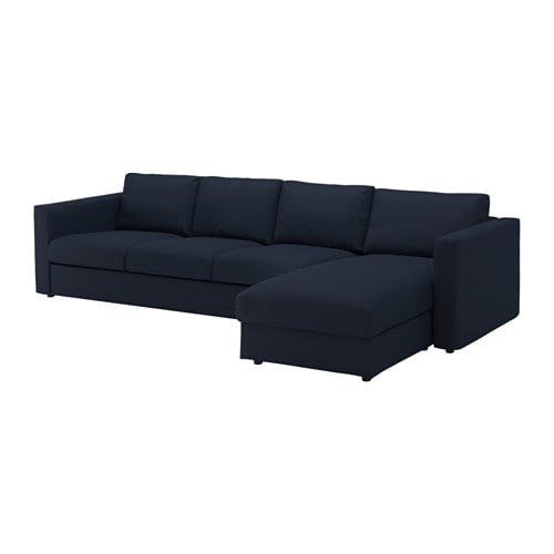 Vimle 4 seat sofa with chaise longue gr sbo black blue ikea for 4 seater sofa with chaise