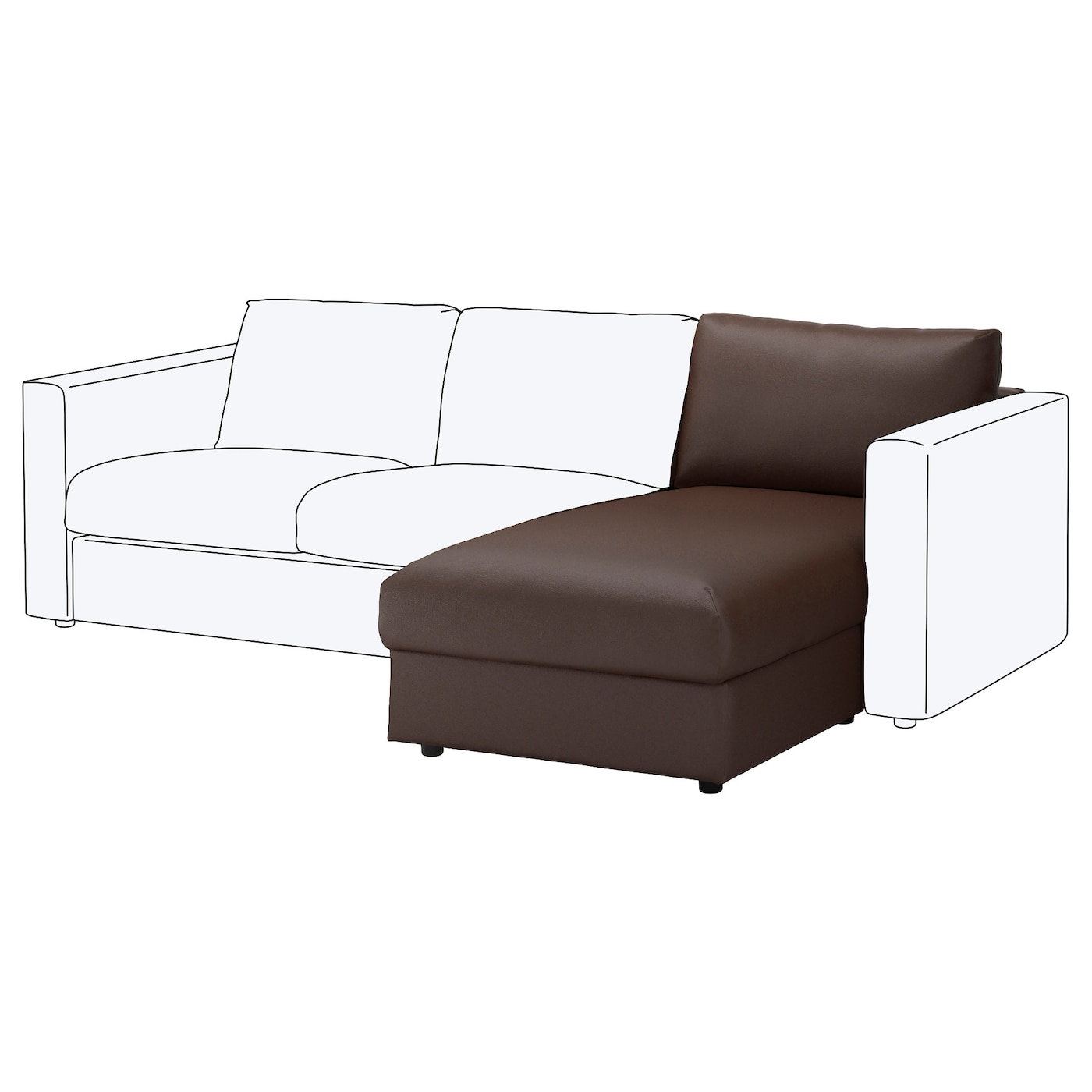 Vimle chaise longue section farsta dark brown ikea - Chaise longue jardin ikea ...