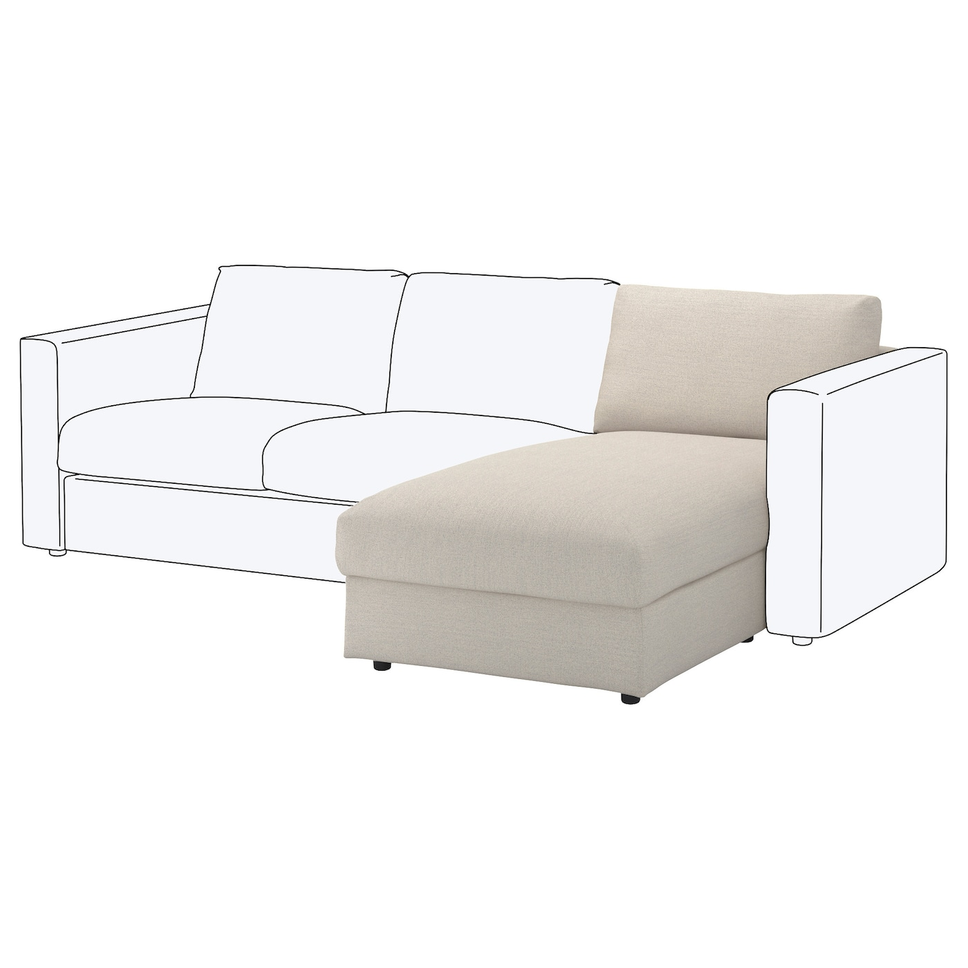 IKEA VIMLE chaise longue section