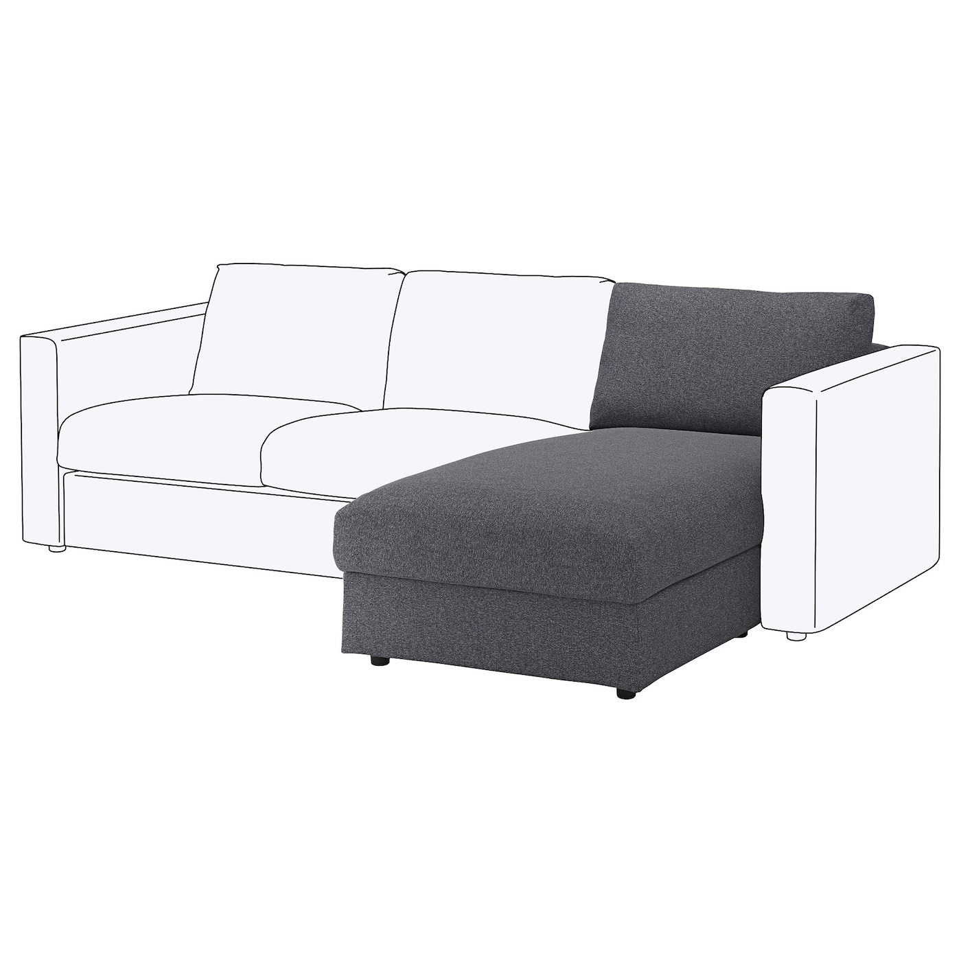 IKEA VIMLE chaise longue section 10 year guarantee. Read about the terms in the guarantee brochure.