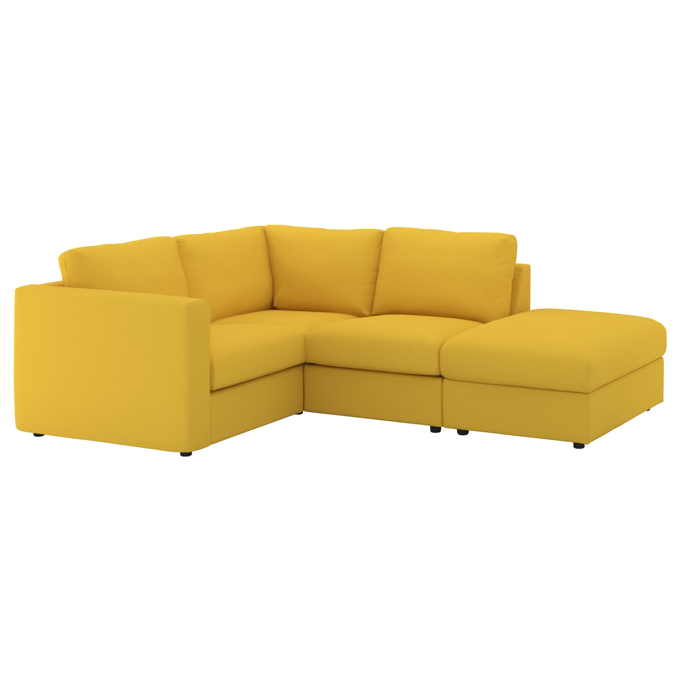 VIMLE Corner sofa 3 seat With open end gräsbo golden yellow IKEA