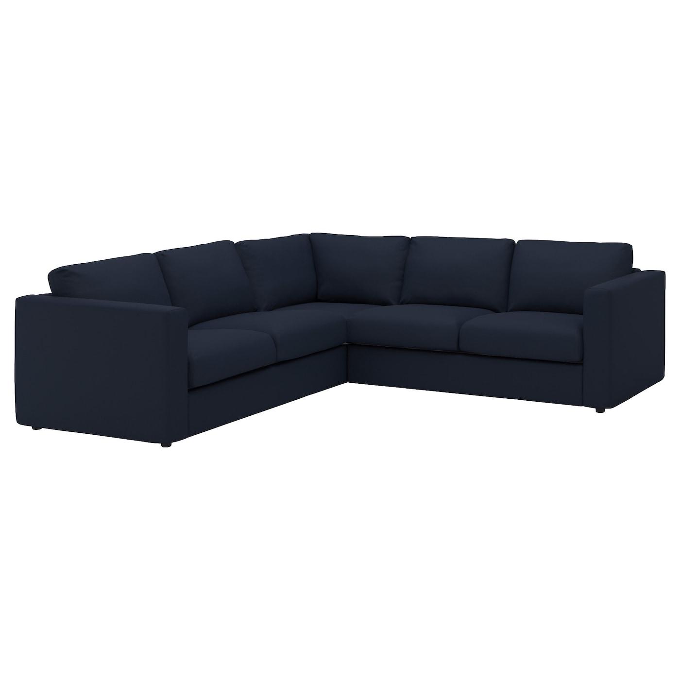 Images Of Corner Sofas: VIMLE Corner Sofa, 4-seat Gräsbo Black-blue
