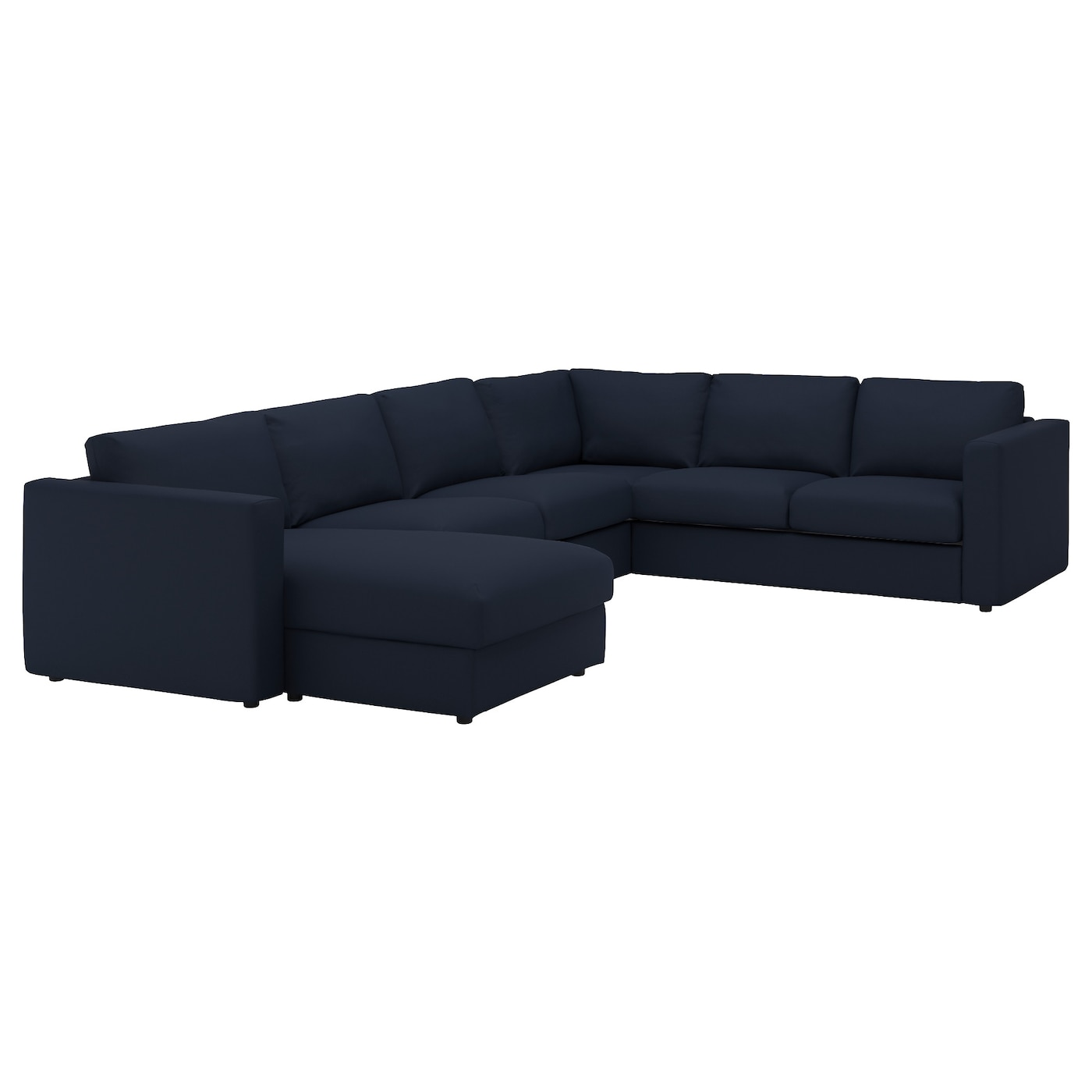 Vimle corner sofa 5 seat with chaise longue gr sbo black for Chaise longue sofa