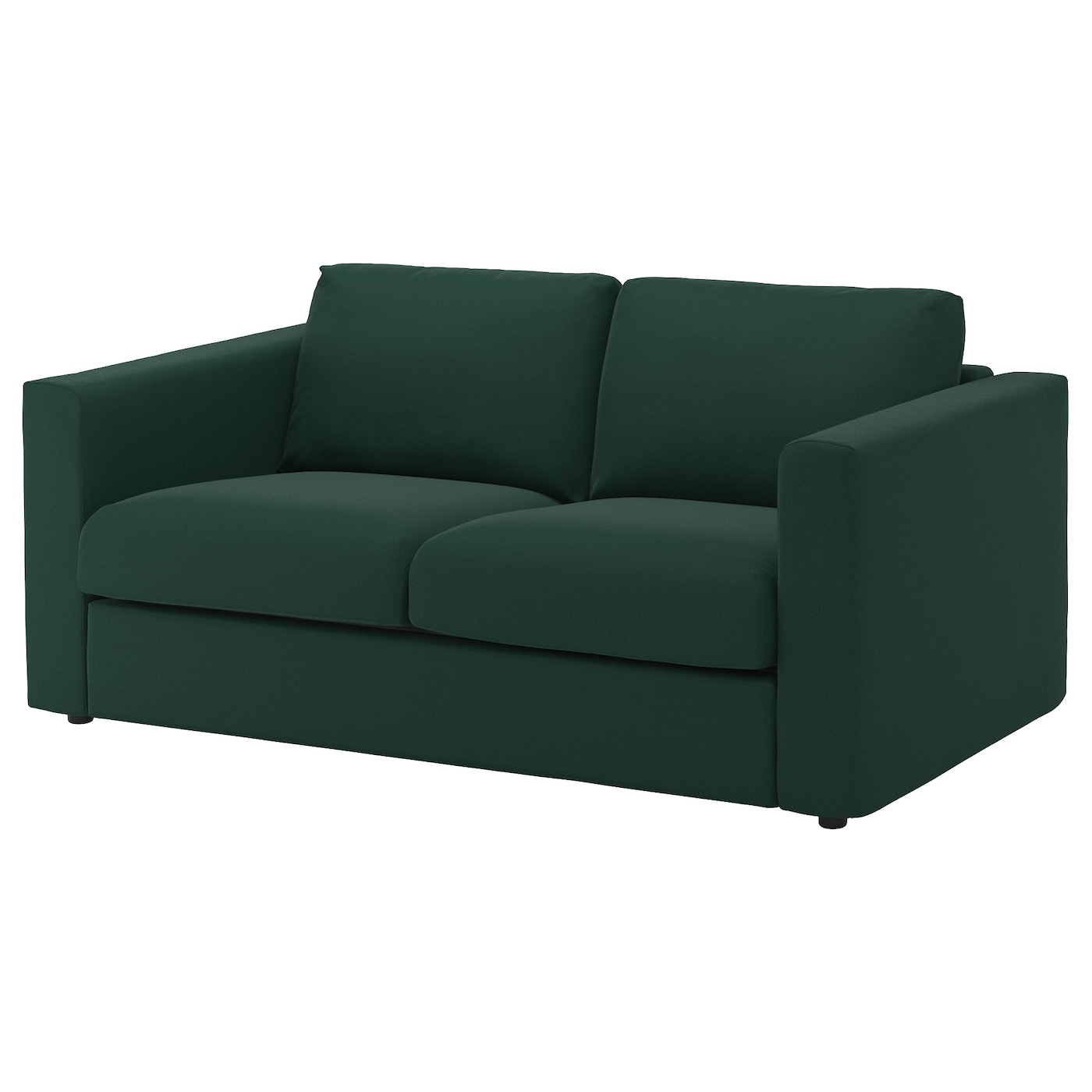 Vimle cover for 2 seat sofa gunnared dark green ikea for Dark green sectional sofa