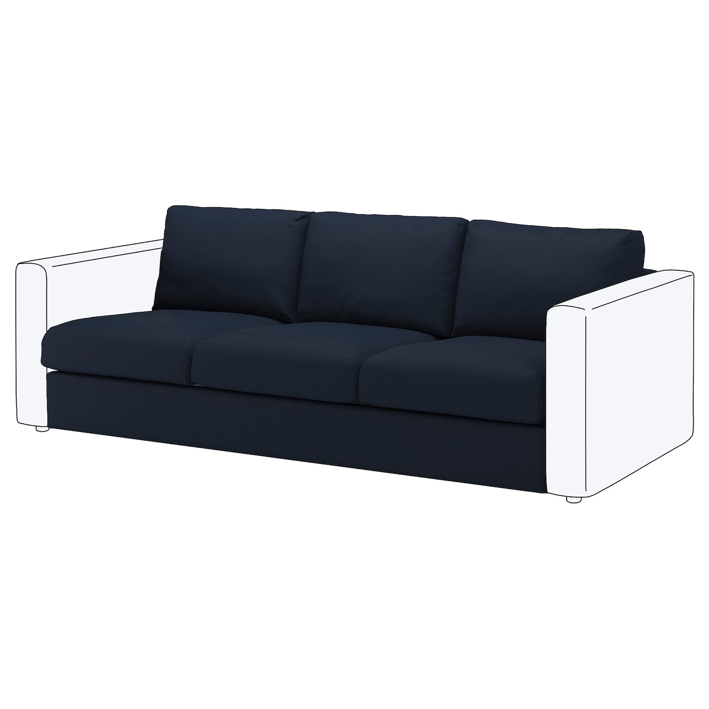 IKEA VIMLE cover for 3-seat section
