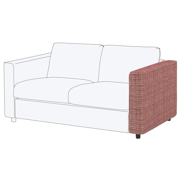 VIMLE Cover for armrest, Dalstorp multicolour
