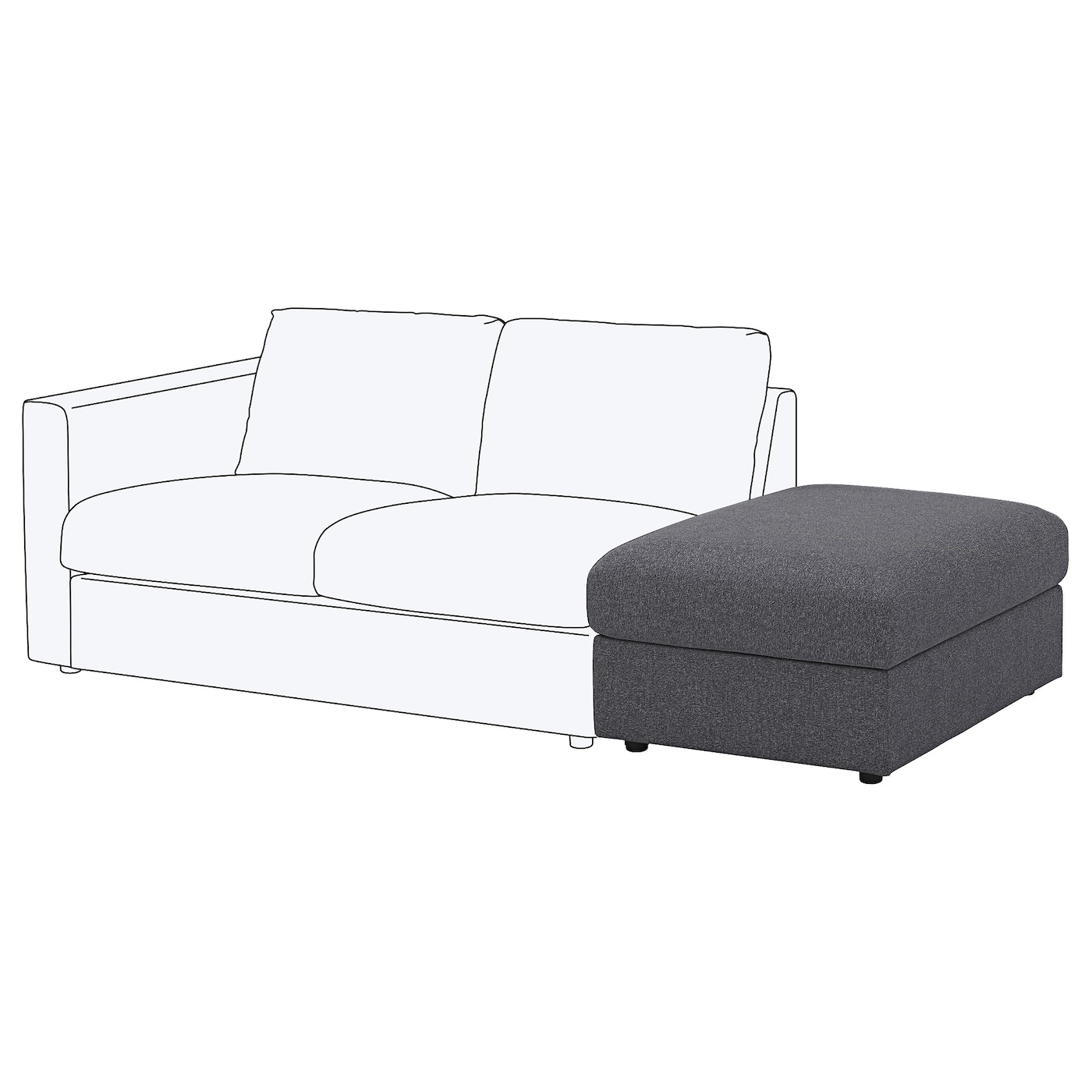 IKEA VIMLE footstool with storage 10 year guarantee. Read about the terms in the guarantee brochure.
