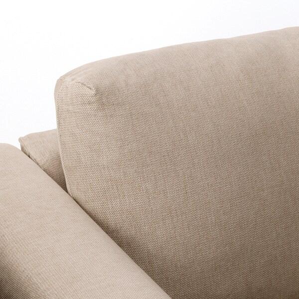 VIMLE U-shaped sofa, 6 seat, with open end/Tallmyra beige