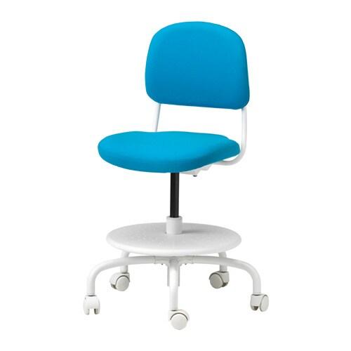 Vimund children 39 s desk chair vissle bright blue ikea - Kids desk chair ikea ...