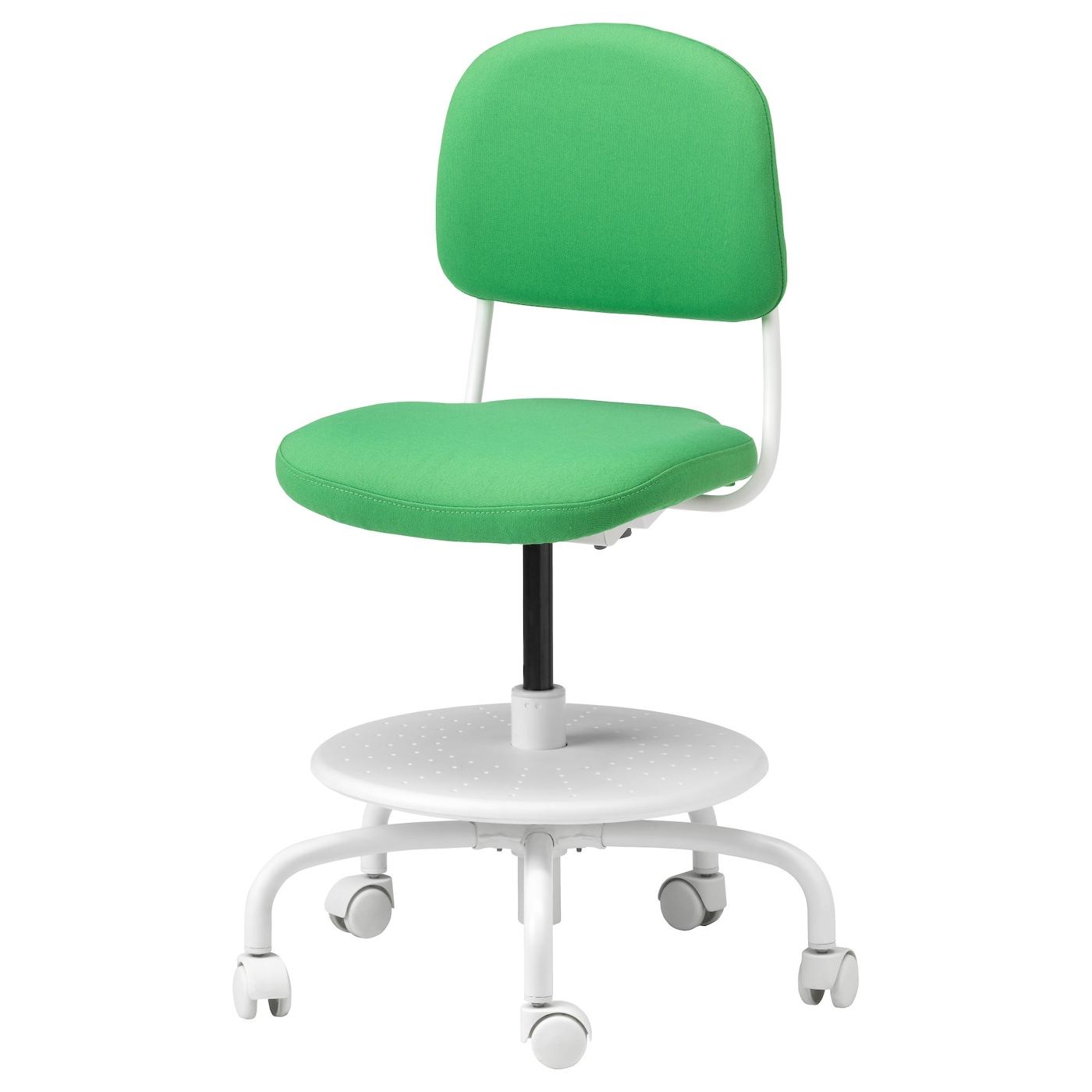 Vimund Children 39 S Desk Chair Vissle Bright Green Ikea