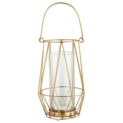 VINDFLÄKT Tealight holder, gold-colour, 24 cm