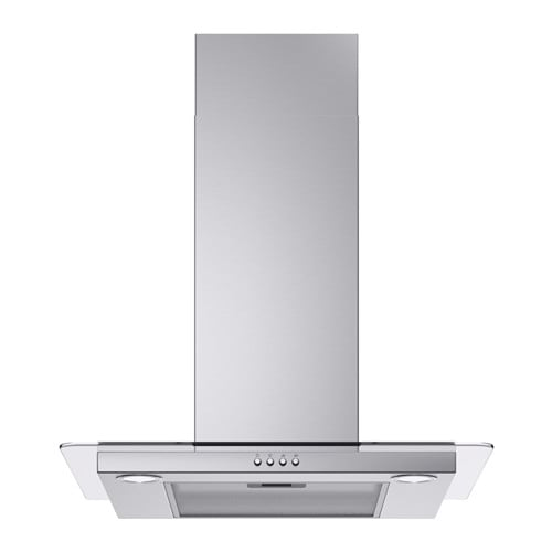 IKEA VINDIG wall mounted extractor hood Control panel placed at front for easy access and use.