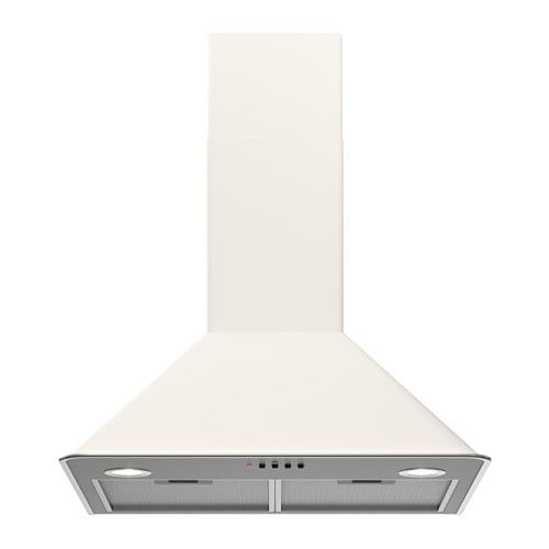 IKEA VINDRUM wall mounted extractor hood Control panel placed at front for easy access and use.