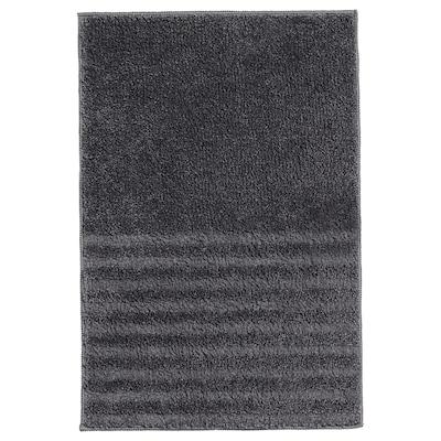 VINNFAR Bath mat, dark grey, 40x60 cm
