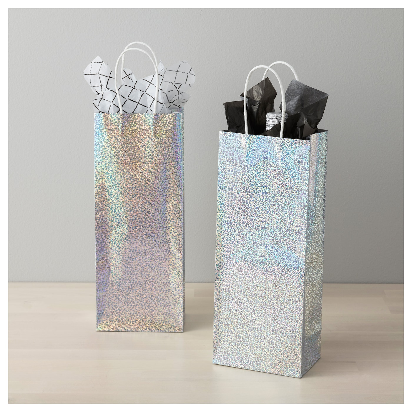 IKEA VINTER 2017 gift bag for bottle The bag is the perfect size for larger bottles or other gifts.